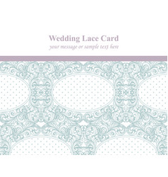vintage delicate lace card retro dotted handmade vector image