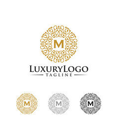 vintage gold luxury logo design template vector image