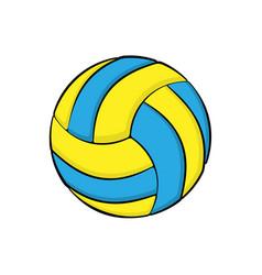 volleyball symbol color vector image
