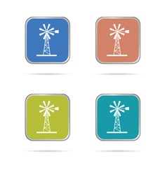windmill white silhouette icon vector image