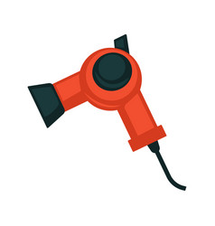 black and red hair dryer vector image