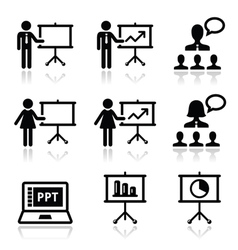 Business presentation lecture speech icon vector image vector image
