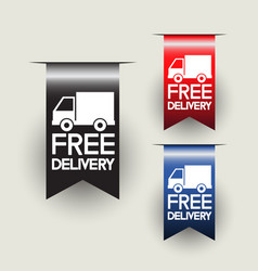 free delivery labels or ribbons vector image vector image