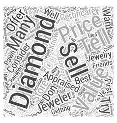 How to sell a diamond word cloud concept vector