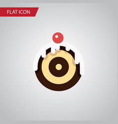 isolated dessert flat icon pastry element vector image