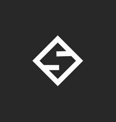letter s logo monogram criative minimal style vector image