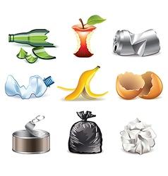 set garbage vector image vector image