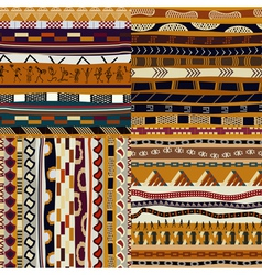 Set of African seamless patterns vector image vector image