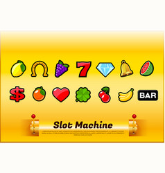 slot machine symbols vector image