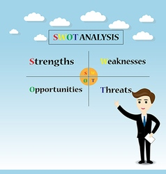 swot analysis concept vector image