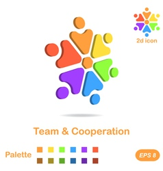 Team and cooperation logo concept vector