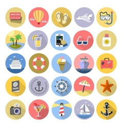 Tourism icons se vector image vector image