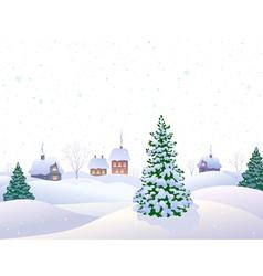 White winter vector image