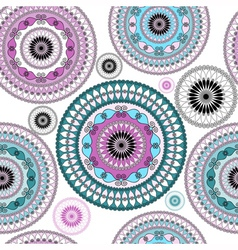Vintage seamless white pattern vector image vector image