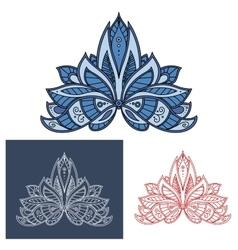 Bold outline floral paisley motif vector image