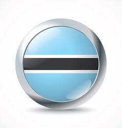 Botswana flag button vector image