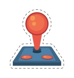 joystick controller retro game icon vector image