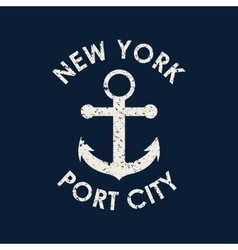 new york typography t-shirt graphics vector image
