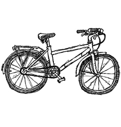 scribble series - bicycle vector image vector image
