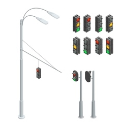 Traffic light Traffic light icons set Traffic vector image vector image