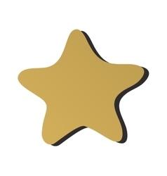 Golden star icon sign rating award best design vector image