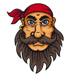 Old corsair in cartoon style vector image