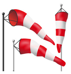 Windsock sign isolated meteorology vector