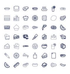 49 slice icons vector