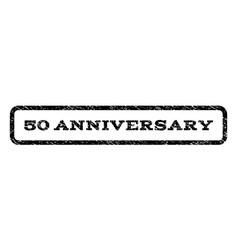 50 anniversary watermark stamp vector image