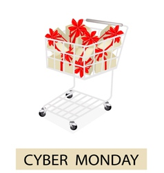 A Shopping Cart on Cyber Monday Label vector