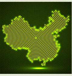abstract china map of glowing radial dots vector image