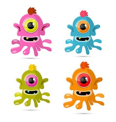 Abstract Monsters - Aliens Set vector image