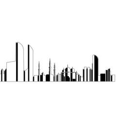 Abu dhabi cityscape vector