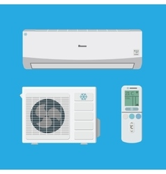 Air conditioner system vector image