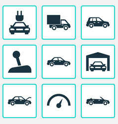 Auto icons set collection of plug repairing vector