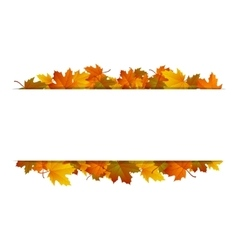 Autumn leaves around blank rectangle vector image
