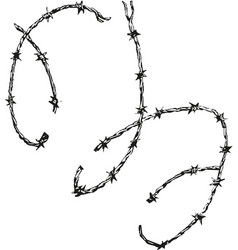 barbed wire graphic sign symbol not freedom vector image