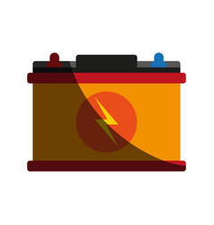battery flat shadow vector image