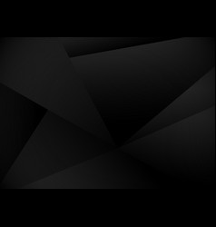 black polygons triangles mosaic background low vector image