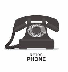 black vintage telephone isolated on white vector image