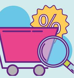 Buy online concept vector