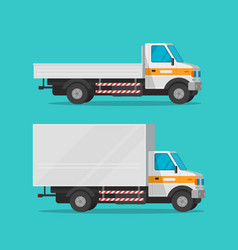 cargo trucks or lorry and delivery automobiles or vector image