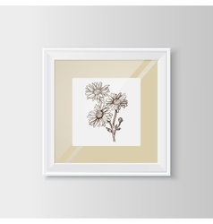 Chamomile sketch in a frame vector image