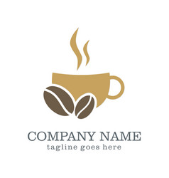 Coffee cup drink company logo vector