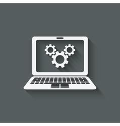 Computer repairs symbol vector