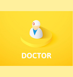 doctor isometric icon isolated on color vector image