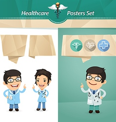 doctors with speech bubbles vector image