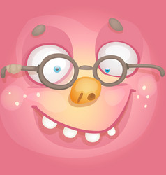 Face with glasses vector