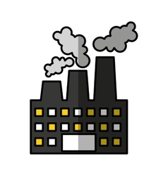 Factory plant industrial building vector
