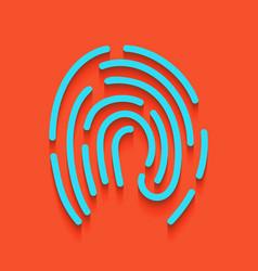 Fingerprint sign whitish vector